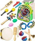 Smarkids Musikinstrumente Kleinkindspielzeug - Professionelles Musik-Lernspielzeug für Vorschulkinder Schlaginstrumente Set Musik-Lernspielzeug für Jungen und Mädchen mit Aufbewahrungsrucksack