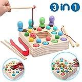 Symiu Holzspielzeug Angelspiel Montessori Lernspielzeug Magnettafel Kinderspielzeug Geschenk ab Kinder Mdchen Jungs 3 Jahre (Angeln)