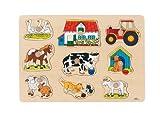 Lustiges Steckpuzzle auf dem Bauernhof (Goki)