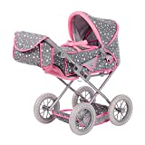 Knorr Toys 63109 Knorrtoys 63109-Puppenwagen Ruby Puppenwagen, Star Grey