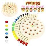 WEARXI Memory Spiele Spielzeug ab 2 3 4 jahren für Draußen Kinder, Outdoor Spiel Spielzeug Kleine Geschenke für Kinder, Gedächtnis-Schach Holz Lernspielzeug ab 2 3 jahre, Family Brettspiele für Kinder