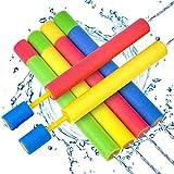 Wasserpistole Spielzeug Kinder Set 6 Stück Pool Wasserspritzpistolen mit Reichweite 35 Feet Sommer Wassersport, Garten und Strand Wasserpistolen für Kinder Rasen Wasserrutschen