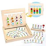 MontessoriSpielzeug Holz Puzzle Sortierbox Kinder Lernspielzeug mit Sanduhr ab 3 4 5 Jahre alte Jungen und Mdchen,(MEHRWEG)
