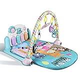 YISSVIC Baby Spieldecke Gym Spielmatte Piano Spielbogen mit Musik und Licht Geeignet für Kinder über 3 Monate
