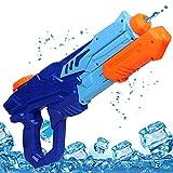 MOZOOSON Wasserpistole Spielzeug fr Kinder mit Langer Reichweiter Freezefire fr Kinder Mdchen Junge ab 3 Jahr 10 Meter Reichweiter 750ML Blau XXL Eiswrfel Geeignet