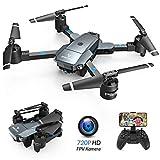 SNAPTAIN A15H Drohne mit Kamera HD 720P Faltbare Drohne FPV WLAN 120 Weitwinkel RC Quadrocopter/Kopfloser Modus/Hhehalten/3D Flip/Flugbahnflug/Sprachsteuerung/Gravitationssensor/Notlandung