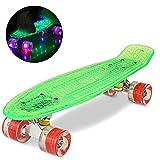 Mini Skateboard mit LED-Leuchtrollen (WeSkate)