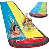 Steadyuf Wasserrutsche, 610 * 145cm Wasserrutsche Rutschmatte Wasserrutschbahn Rutsche Wassermatte Outdoor Wasserspielzeug fr Garten Rasen und Kinder