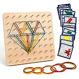 Homealexa Holz Geoboard Set Geometriebrett Montessori Holz Spielzeug fr Kinder, Inspirieren die Phantasie und Kreativitt des Kinders