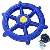 Loggyland Schiffslenkrad Piratenlenkrad Lenkrad Ø 48cm blau - für Kletterturm Spielschiff Spielturm mit Geräuschen Zubehör