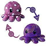 Octopus Plüschtier,Oktopus Plüsch Wenden,Doppelseitige Octopus Kuscheltier Puppe,Stimmungs Oktopus Kuscheltier Kinderspielzeug Geschenke Geeignet für Jungen Mädchen und Liebhaber