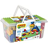 120 bunte Bauklötze aus Kunststoff (Unico)