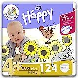 bella baby Happy Windeln fr Babys Gr. 4+, 9-20 kg, im Monatspack mit perfekter Passform und maximalem Schutz - 124 Stck