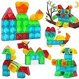 LUKAT Magnetische Bausteine Spielzeug für Kinder 3 4 5 6+ Jahre, Kreativität 3D-Bausteine Konstruktion Blöcke STEM Spielzeug für Mädchen & Jungen Lernspielzeug Magnet Spielzeug Weihnachten Geschenk