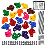 ALPIDEX Kinder Klettergriffe Klettersteine , belastbar bis 200 kg , inklusive Befestigungsmaterial, Verschiedene Stückzahlen bunt - 20 Stück