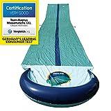 TEAM MAGNUS Wasserrutsche XXL (950x160cm) - Slip und Slide aus strapazierfhigem 0.22mm PVC