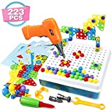 Symiu Mosaik Steckspiel 3D Puzzle Kinder Bausteine mit Drillen Pdagogisches Spielzeug Geschenk fr Kinder Junge Mdchen 3 4 5 Jahre Alt (MEHRWEG)