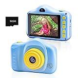 Kinderkamera, Chalpr Kamera für Kinder, Digitale Kinderkameras mit 3,5-Zoll-Bildschirm 12MP 1080P HD-Kamera, Wiederaufladbare Spielzeugkamera für Kinder 3-12 Jahre Jungen Mädche (Blau)