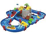 AquaPlay - Wasserbahn Set Bergsee - 42-teiliges Spieleset mit Bergsee, Wasserfall und geheimer Hhle, Wasserspielspa inkl. 3 Tierfiguren und 2 Booten, fr Kinder ab 3 Jahren