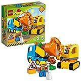 Spielzeug Bagger und Lastwagen mit Figuren (LEGO)