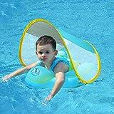 Baby Schwimmring Kinderschwimmhilfe geeignet für Kinder von 3 Monate bis 4 Jahre mit Sonnendach… (Blau, L)