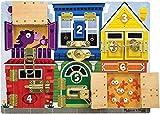 Buntes Lernspielzeug zum Erlernen von Farben, Formen, Zahlen und Öffnen von Verschlüssen (Melissa & Doug)