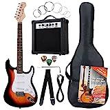 Rocktile Banger's Pack Komplettset E-Gitarre Sunburst (Verstrker, Tremolo, Tasche, Kabel, Gurt, Plecs, Ersatzsaiten und Schule mit CD/DVD)