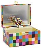 Trousselier - Elmer der Elefant - Schatztruhe - Spieluhr - Ideales Kindergeschenk - Musik Schubert Serenade - Farbe bunt
