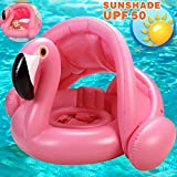 Sunshine smile schwimmring Flamingo,Baby schwimmring aufblasbarer,Baby schwimmring mit Sonnenschutz,babyschwimmen,Baby schwimmtrainer,aufblasbarer schwimmreifen