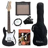 Rocktile Sphere Junior E-Gitarre 3/4 Schwarz SET inkl. Verstärker, Kabel, Gurt und Schule inkl. CD/DVD