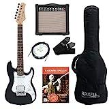 Rocktile Sphere Junior E-Gitarre 3/4 Schwarz SET inkl. Verstrker, Kabel, Gurt und Schule inkl. CD/DVD