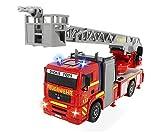 Großes Feuerwehrauto mit manueller Wasserspritze, Licht und Sound (Dickie Toys)