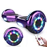 GeekMe Hoverboards,Self Balancing Scooter 6.5',Elektroroller mit Bluetooth-Lautsprecher, LED-Leuchten, Geschenk für Kinder, Jugendliche