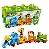Meine erste Steinebox mit Ziehtieren - Elefant, Giraffe, Löwe und Krokodil (LEGO)