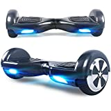 Windgoo Hoverboard, 6.5 Zoll Self Balance Scooter mit Starker Dual Motor - LED Lights Elektro Scooter, Self Balancing Scooter für Kinder (Carbon)