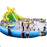 Yuhao Großer aufblasbarer Pool - für Familie und Kinder, rechteckig