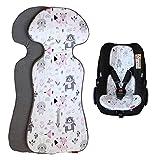 ByBoom Basics Baby Sitzauflage, Sitzeinlage 77x32 cm, Baumwoll- und Frotteeseite, für Babyschale, Autositz (z.B. Maxi-Cosi, Britax-Römer, Cybex), Kinderwagen, Buggy, Fahrradanhänger - Made in EU