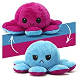 AYCA Reversible Octopus Soft Toys,Doppelseitiges Flip Octopus Plüschtier,Mini Oktopus Plüsch Wenden,Octopus Stimmungskuscheltiere,Geeignet für Geburtstagsgeschenke