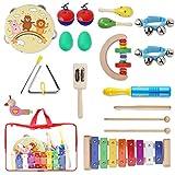 13 Musikinstrumente - Spielzeug-Musikinstrumente für 2-Jährige (Yissvic)