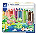 Buntstift, Wachsmal- und Aquarelstift 3 in 1 - 12 verschiedene Farben (Staedtler)