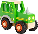 Kinder-Traktor aus Holz mit gummierten Rädern (Small Foot)