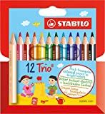 12 Buntstifte in kindergerechter Dreikantform (STABILO)