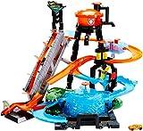 Hot Wheels FTB67 City Ultimative Autowaschanlage mit Krokodil, Car Wash Waschstation Spielset mit Farbwechseleffekt inkl. 1 Spielzeugauto und Alligator, ab 4 Jahren, Andere, Norme