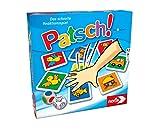 Noris 606013612 Patsch, das schnelle Reaktionsspiel mit 25 Bildkrtchen und einem Wrfel, Lernspiel fr Kinder ab 4 Jahren