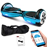 Hoverboard GPX-01-6,5 Zoll Motion V.5 mit App, inkl. Tragetasche, Dual Motor, Bluetooth 4.0, Lautsprecher, Kinder Sicherheitsmodus, Self Elektro Balance Scooter, 600 Watt (Stone)