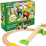 BRIO Eisenbahn Mein Erstes Bahn Spiel Set, Brio World Eisenbahn Zubehör, Holzeisenbahn