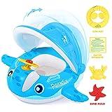 Peradix Baby Schwimmring mit Sonnendach Aufblasbares Kinderboot fr Kinder ab 6 Monaten,Orange