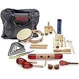 Junior Percussion Kit: orffsche Instrumente mit praktischer Transporttasche (Stagg)