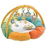 Fehn 071184 3-D-Activity-Nest Eule / Besonders weicher Spielbogen mit 5 abnehmbaren Spielzeugen für Babys Spiel & Spaß von Geburt an / Maße: Ø85cm