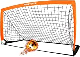 Happy Jump Fussballtor 6'x3' Pop Up Fussballtore für Kinder Garten Fussball Tor Football Ball Tore x1